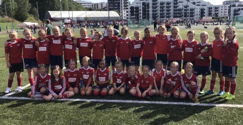 Bilde av Hasle-Løren J2010 fotball i august 2019. Foto: Reidar Evensen.