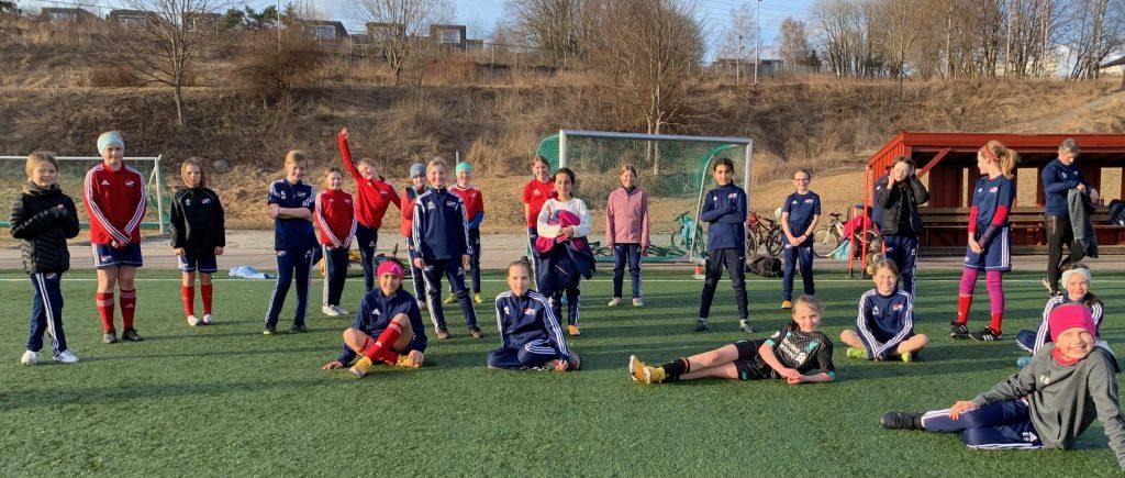 Bilde av fotballspilerrne på Hasle-Løren J2010